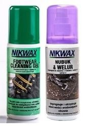 Zestaw NIKWAX Footwear Cleaning Gel + Nubuk&Suede Proof 2x125ml